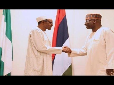 Buhari swears in new SGF, Boss Mustapha
