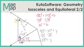 KutaSoftware: Geometry- Isosceles And Equilateral Triangles Part 2