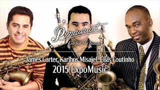 James Carter plays at P. Mauriat booth(2015/9/15)