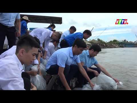 Vũ Thư: Thả 10 ngàn con cá giống ra vùng nước ngọt tại khu vực bến phà Sa Cao xã Vũ Vân