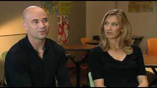 Andre Agassi and Steffi Graf on INSIDE SPORT (BBC) - PART 1 of 3
