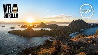 Setting Sun On Padar Island, Komodo N.P. Indonesia (360 VR Video)