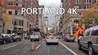 Driving Downtown - Portland Oregon USA.