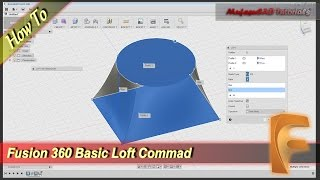 Fusion 360 How To Loft Object, Point And Rails