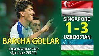Singapur vs O'zbekiston 1-3 Barcha gollar (o'yin sharhi) 15.10.2019