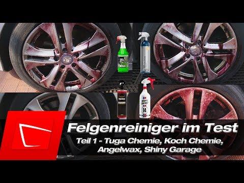Felgenreiniger Tuga Chemie Grün, Koch Chemie Reactive, Shiny Garage Monster Wheel Cleaner Test