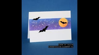 Quick And Easy Halloween Card With Bats Two Ways