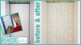 DIY Hand Stamped Accent Wall Tutorial: Herringbone Pattern