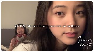 VLOG 33 My Best Friend Comes Visit Me In Boston👩👩