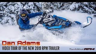 Dan Adams Video Tour Of The 2019 RPM Snowmobile Trailer
