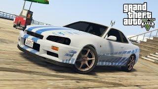 GTA5 Моды: Skyline Брайана О'Коннора - Дрифт Nissan R34