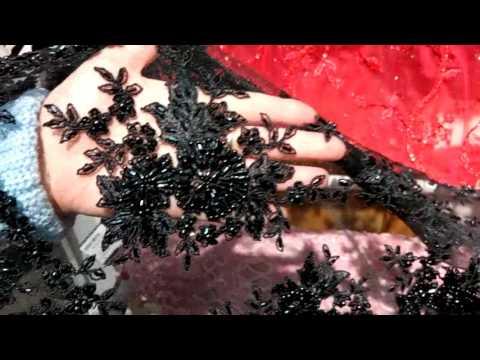 Обзор тканей для вечерних платьев