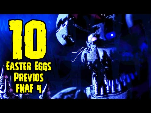 TOP 10: 10 Easter Eggs Previo Al Estreno De Five Nights At Freddy's 4 | FNAF 4