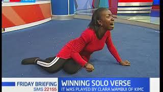 Clara Wambui from KIMC is the winner of 2018 solo verse