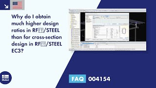 FAQ 004154 | Why do I obtain much higher design ratios in RF‑/STEEL than for cross-section design in RF‑/STEEL EC3?