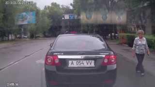 Беспредел на дорогах Алматы.