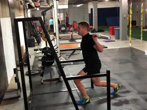 Barbell Split Jump