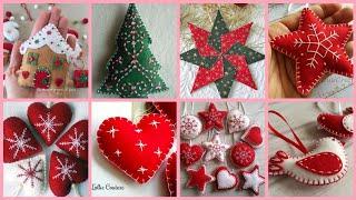 39 Cute Handmade Felt Christmas Ornaments Craft Ideas