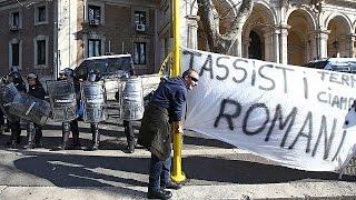 Les taxis italiens en grève contre les VTC
