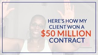 How My  Client Won First Government Contract