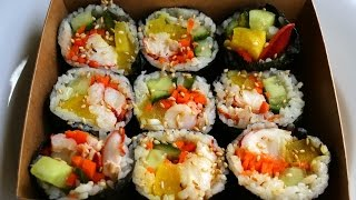 Kimbap with Lobster (Gimbap:랍스터 김밥)