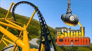 The Steel Curtain Roller Coaster POV Kennywood 2019 Ride Preview