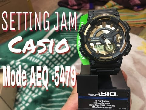 SETING FULL jam CASIO modelu No 5479