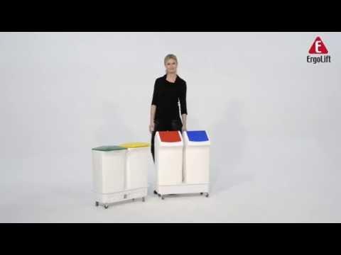 Affaldsvogn med 2x40 L affaldspande