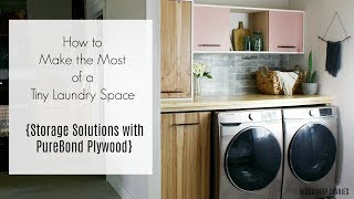Tiny Laundry Room Storage Solutions--Making The Most Of The Space You Have