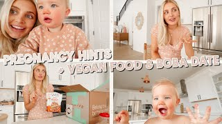 explaining pregnancy hints we gave, vegan food haul & boba tea date! by Aspyn + Parker