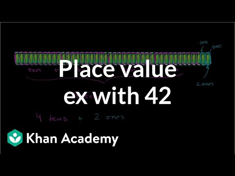Place value example: 42 (video) | Tens | Khan Academy