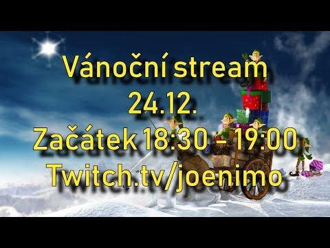 Pozvánka na Vánoční stream | 24.12. 18:30 - 19:00 | Budu rozdávat hry^^ | twitch.tv/joenimo