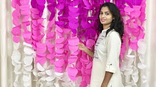 Simple And Easy Paper Circle Garland For Party | How To Make Paper Garland