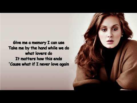 Adele   All I Ask Lyrics Video
