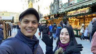 Christmas Market Street Food Munich, Germany | Marienplatz