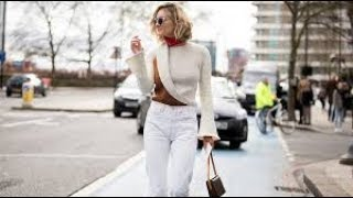 Ways To Wear White Denim In Fall
