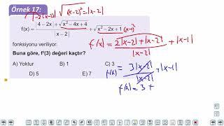 Eğitim Vadisi AYT Matematik 17.Föy Bir Fonksiyonun Türevlenebilirliği Konu Anlatım Videoları