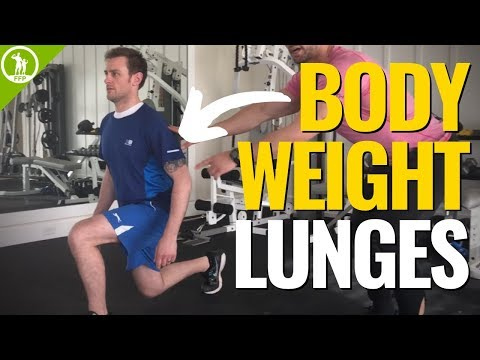 How To Do Bodyweight Lunges — (LUNGE TUTORIAL & FORM)