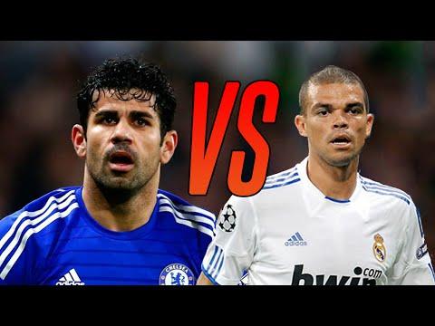 Diego Costa vs Pepe . Khi 2 anh trùm thể hiện