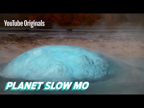 Iceland's Famous Strokkur Geyser Erupting in Slow Motion