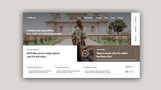 Web Design Speed Art #34 – Minimal Travel Website [Adobe XD]