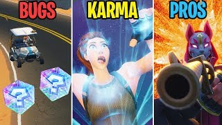 MARIO KART IN FORTNITE??? BUGS vs KARMA vs PROS! Fortnite Battle Royale Funny Moments