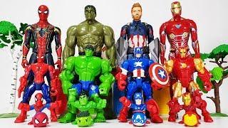 Avengers Smaller & Bigger Transformation, Go~! Hulk, Iron man, Spider Man