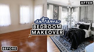 EXTREME BEDROOM MAKEOVER (From Start To Finish) - Moody French Room Transformation! (part 2)