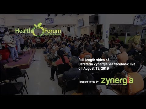 13 August 2019 | Cafeteria Zynergia via Facebook Live