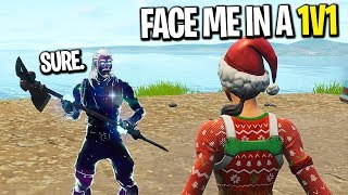 I left fill on in Playground and challenged Noobs to a 1v1... (FUNNIEST BUILD BATTLE)