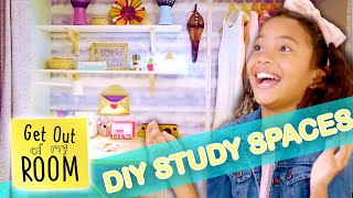 4 Amazing DIY Study Space Ideas For Your Room! 📚  | Get Out Of My Room | Universal Kids
