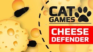 CAT GAMES - 🐭 CHEESE DEFENDER (ENTERTAINMENT VIDEOS FOR CATS TO WATCH)