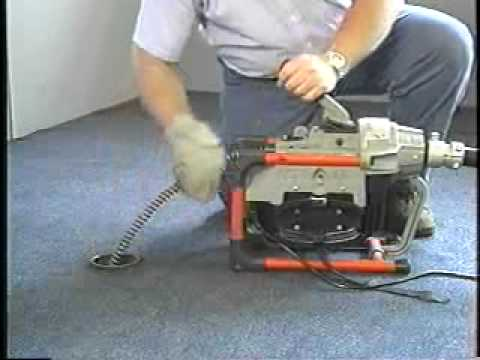 K-60 Sectional Drain Cleaner Video