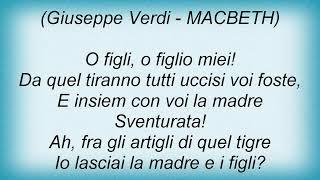 Andrea Bocelli - Ah, La Paterna Mano Lyrics